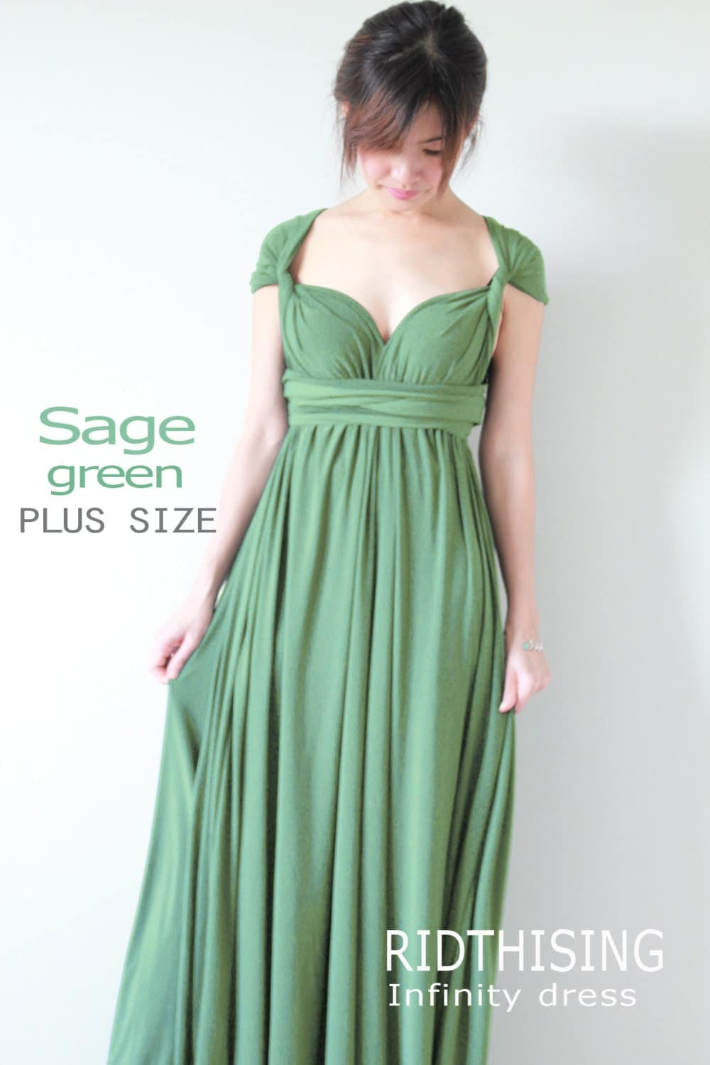 Sage Green Plus Size Dress