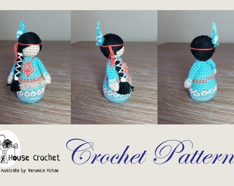 CROCHET PATTERN for Child AYASHA. Mother and Baby not included in this pattern.