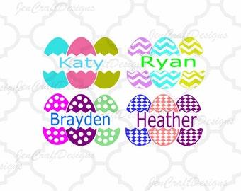 Split Easter Eggs,SVG,DXF,EPS,Png, Vector, Spring, Bunny, Easter Basket Monogram Frames Svg, digital download Silhouette Cricut