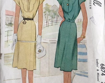Vintage pattern McCall 6874, bust 32