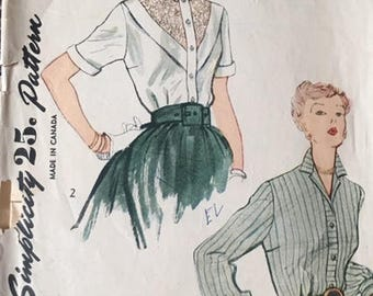 Vintage sewing pattern, Simplicity, 3063, size 14 (bust 32)