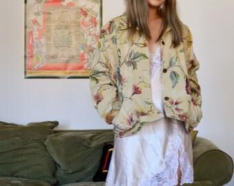 vintage embroidered floral jacket