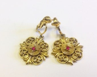 Vintage, Victorian revival, costume, clip on earrings.