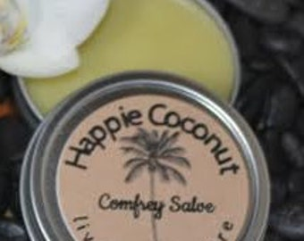 Happie Coconut Comfrey Salve with Calendula   All-natural and organic