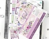 Illuminate April Monthly View Planner Kit | 200 Stickers | Planner Stickers | For Erin Condren LifePlanner