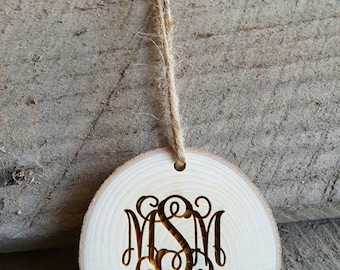 Baby's First Christmas Ornament - Personalized Christmas Ornament - Wood Slice Ornament - Christmas Ornament