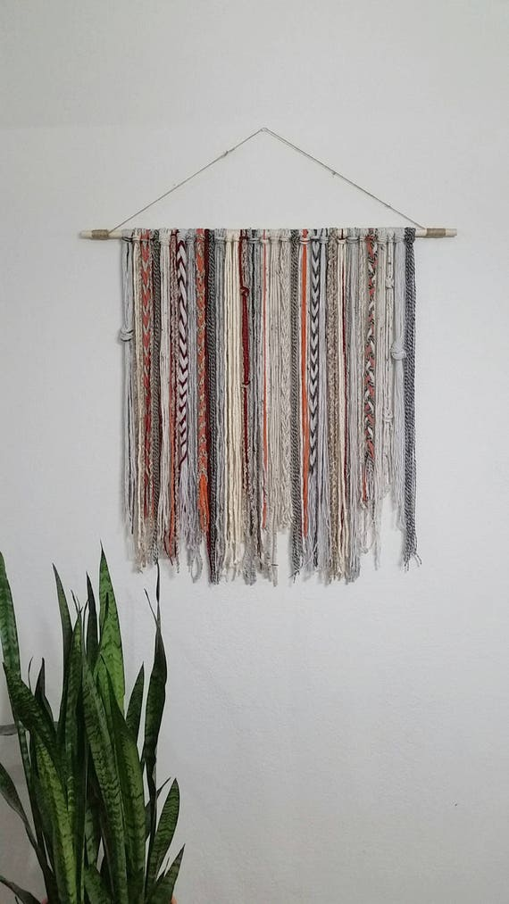 Bohemian yarn tapestry yarn wall hanging for Yarn wall hanging