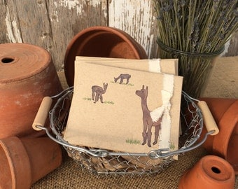 Alpacas Blank Note Cards – Pack of Four
