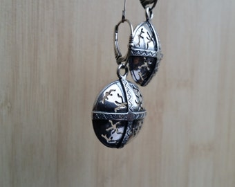 Sterling Silver Nordic Shield Earrings