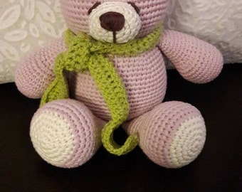 Homemade Cute Crocheted Bear Toy