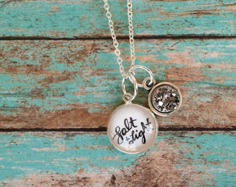 Salt and Light Faux Druzy Necklace, Christian Gifts for Women, Inspirational Christian Gifts, Ready to Ship Necklace, 402002