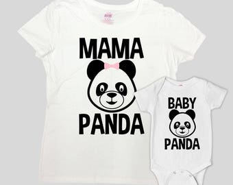 Mommy And Me Shirts Mom And Son Matching Outfits Mother Daughter T Shirts Family Gifts For New Mom Mama Baby Bear Bodysuit - SA796-797
