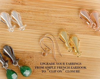 Upgrade Your Earrings: Clip On Earrings for non pierced ears, available in Gold, Rose Gold or Sterling Silver