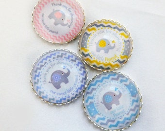 wholesale price baby shower magnets baby shower favors Two sizes and four color options super strong glass dome magnets for baby shower.
