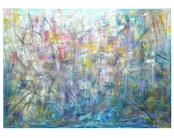 "Abstract oil painting ""Outburst"""