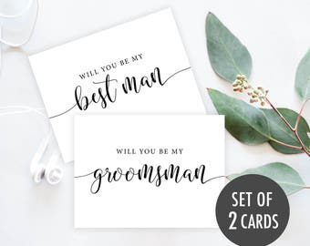 Will You Be My Groomsman Card, Printable Best Man Proposal, Best Man Card, Groomsmen card, Be My Groomsman, Proposal Invitation Cards Set