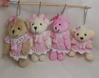 Miniature Plush Teddy Bears. Bear Key Chains. Bear Pendants. Christmas Ornaments. Dressed Teddy Bears. Bear Brooch. Bear Ornaments