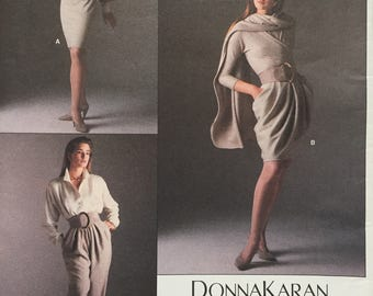 Vintage Vogue American Designer 1962 Donna Karan Skirt Pants Stole Sewing Pattern Size 12 Uncut