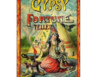 Old Gypsy Story Teller Vintage Look Reproduction 8x12 Metal Sign 8120585