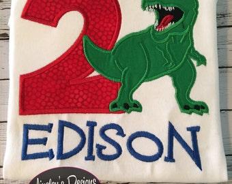 T-rex applique shirt! FREE personalization!