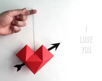 Origami valentine | Etsy - photo#39