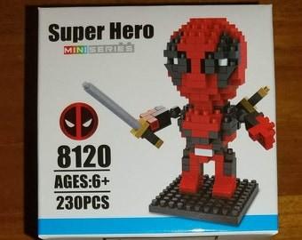 Deadpool Nanoblocks Microblocks Marvel Building Construction Sets