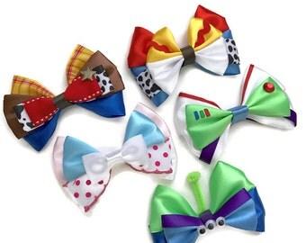 Toy Story Disney Inspired Character Woody Jessie Bo Peep Buzz & Alien Hair Bows