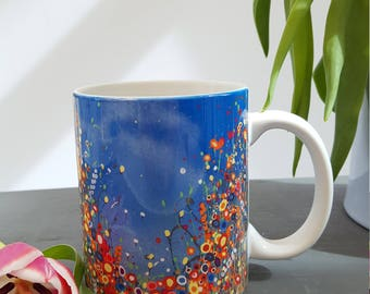 Art Print Ceramic Mug with 'The Skies The Limit'