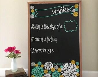 Baby Bump Chalk Board