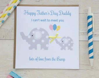Handmade Elephant Father's Day Card  -  lots of love from the Bump Fathers Day Card (LB159)