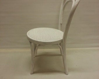 Kids Thonet chair, Little white lacquered Thonet chair, children's chair, vintage Thonet
