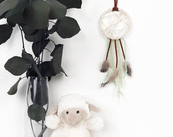 Baby Dream Catcher, Baby Girl Christmas Gift Under 20, Boho Nursery Decor, Small Dreamcatcher, Pastel Nursery Art, Bohemian Baby Shower Gift