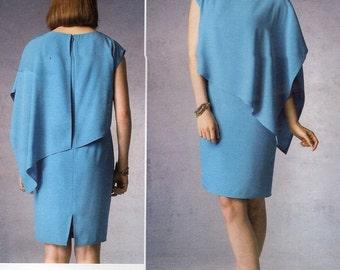 Vogue 1373 Free Us Ship Designer Tom Linda Platt Capelet Dress Size 8/16 16/24 Bust 30 32 34 36 38 40 42 44 46 plus size Sewing Pattern 2013