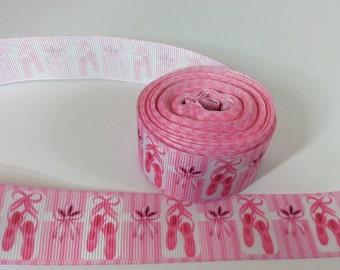 Ballerina ribbons, ballet ribbons, tutu ribbons, ballet shoe ribbons, 1 inch Grosgrain ribbon, perfect for hairbows, scrapbookin