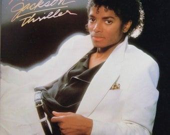 """Michael Jackson """"Thriller"""" LP Vinyl Record - Excellent Condition - Early 1980's Pressing - Free Shipping!"""