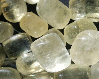 Yellow Calcite Tumbled
