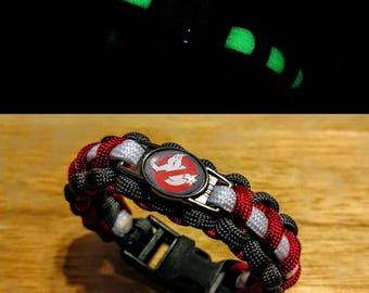 Ghostbusters Inspired Glow In The Dark Paracord Bracelet