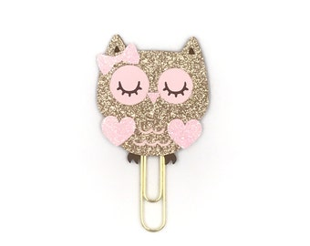Rose Gold Owl Paper Clip