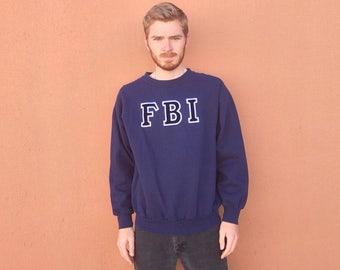 Vintage FBI Sweatshirt size LARGE ~ made in USA