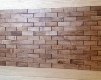 European walnut tiles, wall cladding, 3d wall panel