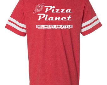 THE ORIGINAL Pizza Planet football tee/ Toy Story shirt/ Pizza Planet party shirt/ Disney family shirt/ Toy Story tee