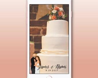 Wedding Portrait Snapchat Filter, Custom Couple Illustration Snapchat Geofilter, Custom Engagement Portrait Snapchat Filter, Portrait Filter