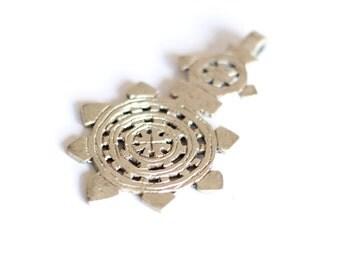 Ethiopian cross, Coptic Cross, Meskel, Large Ethiopian Pendant, African Jewelry, Silver African Bead, Orthodox Cross, Christian, Africa Bead