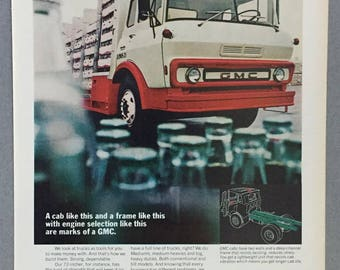 1970 GMC Truck Cabs Print Ad - Vintage Truck Ad