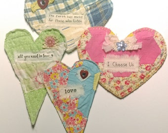 Fabric Hearts, Cutter Quilt Hearts, Hearts