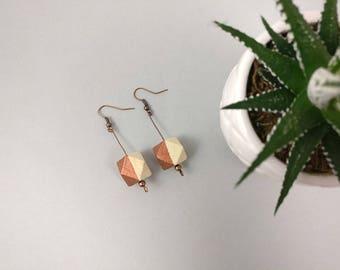 Geometric Earrings - Copper Earrings | Statement Earrings | Nickel Free | Dangle earrings | Gift for her | Gift for wife | Bridesmaid gift