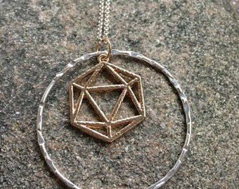 Mixed Metal Geometric Bohemian Necklace