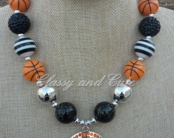 Basketball Chunky Necklace