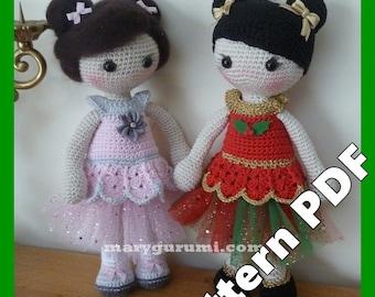 Crochet, Pattern, Patron, Tutoriel, Amigurumi, Poupée, Melle Betty