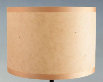 Handmade Lampshade made with textured paper in gold/beige. Various sizes 10cm/20cm/25cm diameter. Standard UK / European Fittings.